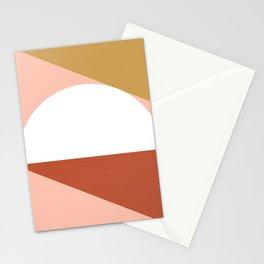 Mid Century Modern Sunset - Terracotta Peach Mustard Stationery Cards