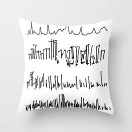 New York Skylines Throw Pillow