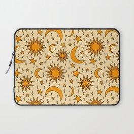 Vintage Sun and Star Print Laptop Sleeve