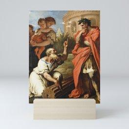 Sebastiano Ricci - Tarquin the Elder Consulting Attius Navius Mini Art Print