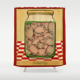 Pickled Pig Revisited Shower Curtain