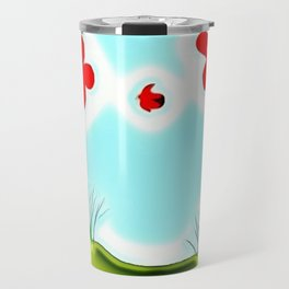 Two Flowers and a Lady Travel Mug