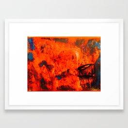 Trippy tea Framed Art Print