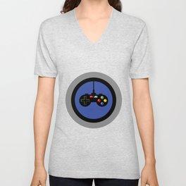 Game Controller in Blue Target Unisex V-Neck