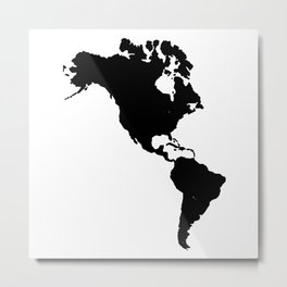 The Americas Silhouette Metal Print