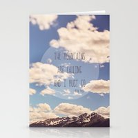 the mountains are calling Stationery Cards featuring the mountains are calling by shannonblue