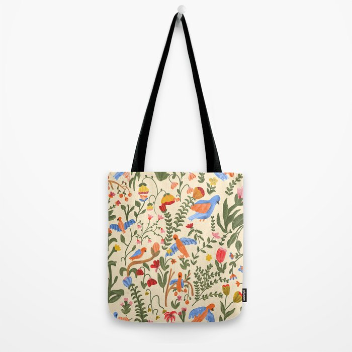 Tropical Garden Pattern Tote Bag