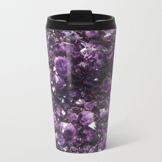 Amethyst Crystal Photography Metal Travel Mug