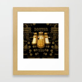 Doctor Who Said Ex Framed Art Print