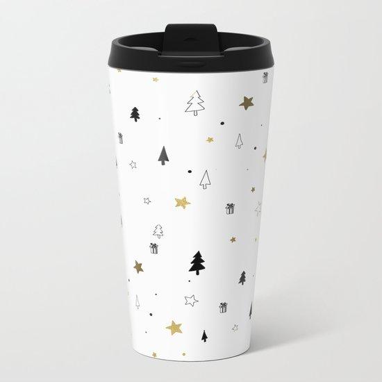 Christmas Pattern Metal Travel Mug