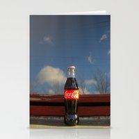 coca cola Stationery Cards featuring Coca - cola  by Anastasia Bogdanchikova