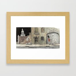 Night Stroll Through Paris Framed Art Print