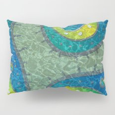 Blue Microbe Pillow Sham