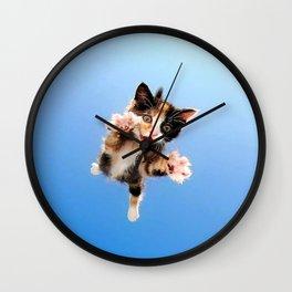 Here Kitty! Wall Clock