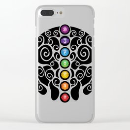 Chakra Tree #42 Clear iPhone Case