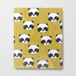 Happy Panda - by Andrea Lauren Metal Print