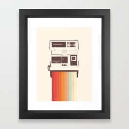 Instant Camera Rainbow Framed Art Print