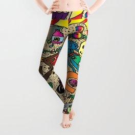 Cartoony Collage Leggings