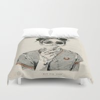 sale Duvet Covers featuring Not For Sale by NVM Illustration