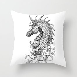 Dark Side Unicorn Throw Pillow