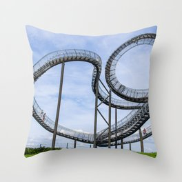 living in one heart Throw Pillow