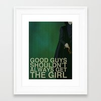 "snape Framed Art Prints featuring ""F@#k Fairy Tales!"" - Severus Snape by ChrisAbles"