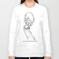 tina crespo Long Sleeve T-shirts featuring Tina by Martin Matamoros
