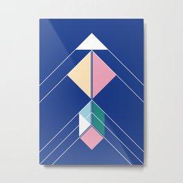 Tangram Arrow Two Metal Print