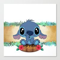 aloha Canvas Prints featuring Aloha... by Emiliano Morciano (Ateyo)