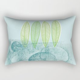 Blue sweet time Rectangular Pillow