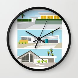 mid-centery house one, three, four Wall Clock