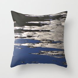 Silver Shimmer Throw Pillow