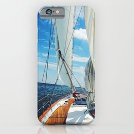 Sweet Sailing - Sailboat on the Chesapeake Bay in Annapolis, Maryland iPhone Case