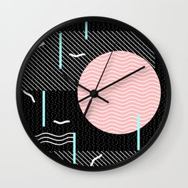 Memphis Summer Night Wall Clock