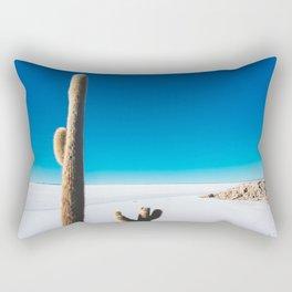 Cactus on Isla Incahuasi, Salt Flats, Bolivia Rectangular Pillow