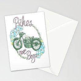 Bikes not Boys Stationery Cards