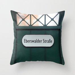 Berlin U-Bahn Memories - Eberswalder Straße Throw Pillow