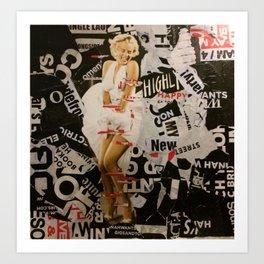 The famous dress Art Print