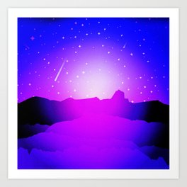 Purple Night Art Print