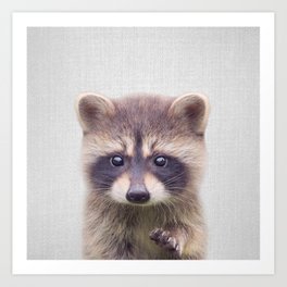 Raccoon - Colorful Art Print