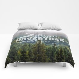 The Road To Adventure Comforters