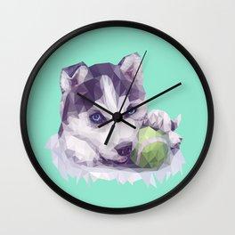 Husky Blues Wall Clock