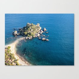 Beautiful island Taormina Canvas Print