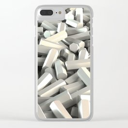 Pile of white hexagon details Clear iPhone Case