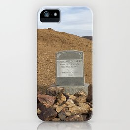 Gravestone of Tumbleweed Harris - Calico Ghost Town iPhone Case
