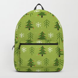 Christmas Trees Pattern Backpack