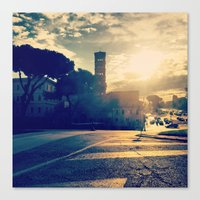rome Canvas Prints featuring rome by xp4nder