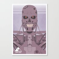 terminator Canvas Prints featuring Terminator  by avoid peril