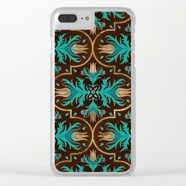 Turkish tulip - Ottoman tile 16 Clear iPhone Case