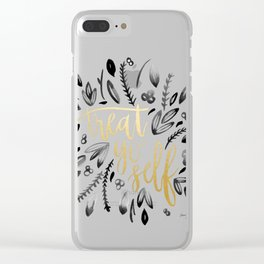 Treat Yo Self Gold Clear iPhone Case